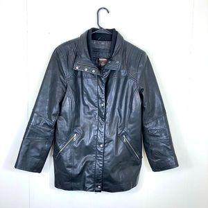 Danier Leather Black Thinsulate Jacket Sz M